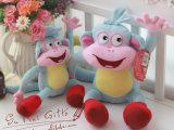 爱探险的朵拉dola布茨boss长尾猴子毛绒玩具公仔玩偶