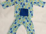 DISNEY 外贸原单尾货 婴儿服 全棉长袖高腰套装 印花卷袖款