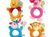 婴儿早教玩具 圆手摇铃 布摇铃 宝宝手铃 儿童玩具 0-1岁
