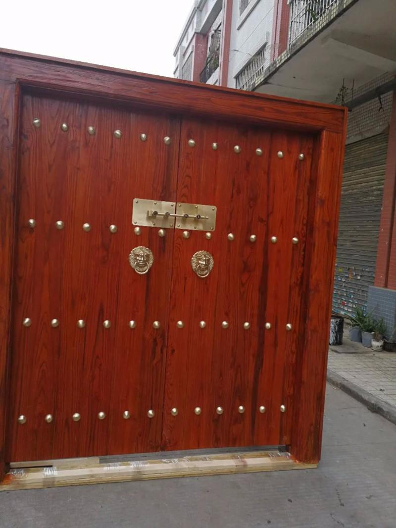 纯实木大门 别墅双开大门 原木庭院大门 正品实木大门