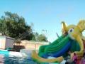 新款大型水上乐园充气城堡水滑梯支架游泳池水上冲关 鲸鱼岛