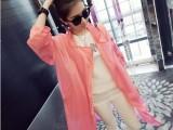 韩版女装2014夏装新款防紫外线糖果色显瘦长款防晒风衣夏季女