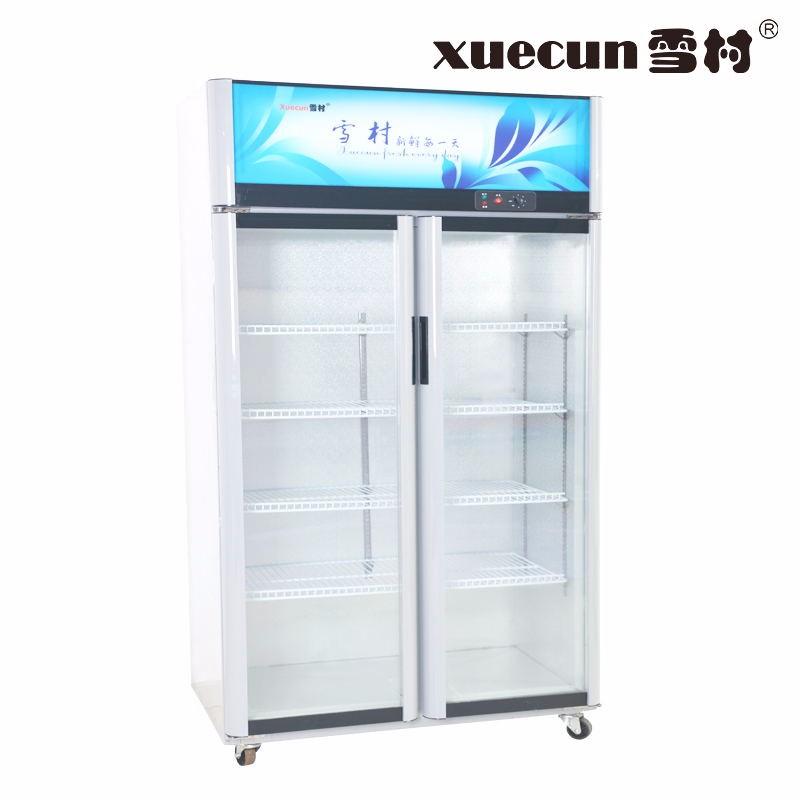 雪村陈列柜展示柜超市啤酒饮料柜冷藏保鲜柜