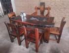 实木中式仿古家具 古船木茶桌 客厅户外阳台茶桌椅组合厂家直销