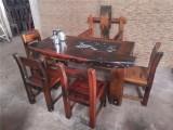 老船木家具批发 老船木功夫茶桌 古典茶台 泡茶桌椅组合