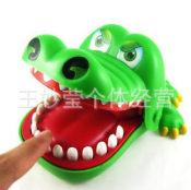 儿童玩具 大号会咬手指的大嘴巴鳄鱼玩具 鳄鱼拔牙玩具 整人玩具