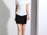 2015新款女式衬衫夏季短袖职业衬衫女装酒店工作服衬衫女厂家批发
