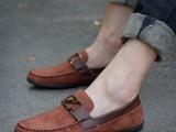 一件代发春夏季懒人鞋男士英伦豆豆鞋潮男   透气韩版男鞋数据包