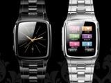 2012新款半智能全钢防水超薄腕表手机TW810手表QQ/JAV