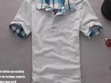 2014新款短袖T恤男韩版修身男士半袖t恤男短袖潮夏装男装格子T