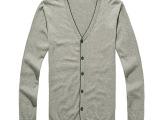 2014秋季新款 纯色潮流休闲男士V领线衫 韩版薄款舒适潮男针织