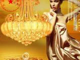 厂家批发餐吊水晶灯金色水晶吊灯络 客厅吊灯 现代简约餐厅吊灯具