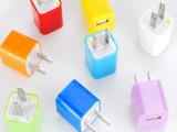 彩色充电器 HTC小米三星安卓手机糖果彩色充电头 手机直充头