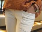 2014韩版春夏小脚裤弹力紧身裤铅笔裤显瘦白色打底裤长裤女