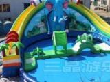水上乐园支架充气水池水滑梯充气城堡网虹桥七彩滑道漂流船泡沫机等