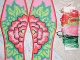 印花十字绣鞋垫套件 纯棉精品 精准印花