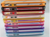 iphone4 4S信号圈手机壳保护套苹果4代双彩色透明软硅胶套
