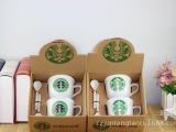 厂家批发  星巴克咖啡杯 创意陶瓷杯 日用百货 居家赠品 定制L