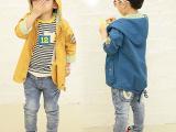 2014春款男童韩版外套七分袖儿童单衣休闲风衣韩版潮百搭上衣外套