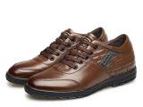 商务正装男鞋 时尚真皮皮鞋 头层皮鞋内增高6cm橡胶底耐磨单鞋男