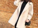 杭州樱之秀单面呢子大衣品牌折扣尾货批发 女装实体店货源