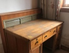 转让一张实木床和椰棕床垫,桌子