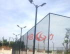 江门篮球场围网施工|蓬江运动场安全围网现场施工