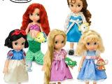 正品玩具 迪士尼Disney芭比贝儿长发白雪公主沙龙娃娃