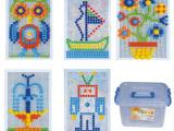 多功能插板塑料拼插积木蘑菇钉拼装积木玩具蘑菇插钉百变插珠