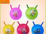 地摊畅销 儿童充气pvc玩具球 宝宝早教益智羊角拍拍球批发