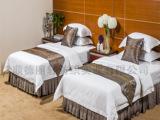 五星级酒店床上用品直销 全棉60支白色贡缎四件套 客房布草床品