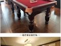 出售二手美式台球桌、九球桌成色八成新、送全新配置.送货上门