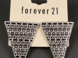 欧美外贸首饰品 朋克爱情魔力三角耳钉合金属金字塔 EH155