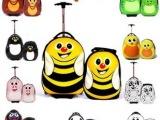 可爱儿童动物卡通子母箱蜜蜂旅行箱拉杆箱PC书包英国Cuties可