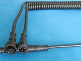 厂家直供 弹簧线 防水线 迷你防水头 电源线 对接线 厂家直销