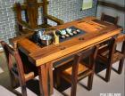 广元市老船木茶桌椅子仿古茶台实木沙发茶几餐桌办公桌家具博古架