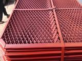 建筑钢笆网片 红漆菱形钢笆片 耐腐耐用