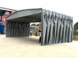 杭州鑫建华手动推拉式雨棚下城区定制伸缩推拉篷