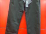 混批外贸原单女装 女式黑色中腰七分休闲裤 义乌低价服装库存