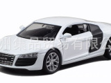集品1/36奥迪R8 回力车 惯性车 玩具 汽车模型 批发
