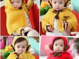 韩秋冬女宝宝发带女童毛线连帽披肩耳套手套婴儿童帽子三件套批发