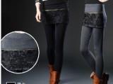 【梦之缘】春新款 韩范蕾丝棉假两件裙裤打底裤批发厂家直销M12