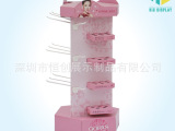化妆品纸货架 挂钩式落地展示架饰品纸陈列架货架牙刷创意货展架