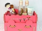 焦点 化妆品收纳盒 收纳盒 木质桌面收纳盒 创意收纳 厂家100
