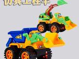 睿远最新热销惯性沙滩玩具塑胶车模型工程车3-7岁产地货源混批