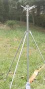 邯郸供应批发1寸园林大田移动喷灌设备三脚架铝合金材质