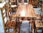 云浮碳烧餐桌椅实木餐桌椅石锅鱼火锅桌,八仙桌,仿古家具厂家直销