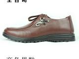 新款男英伦潮鞋 男式圆头系带皮鞋低帮正装男皮鞋温州厂家直销