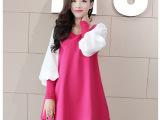 2014新款连衣裙韩版修身品牌女装大码A字拼接打底衫实体女装批发