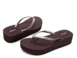 新款 夏季凉拖鞋 人字沙滩鞋 中跟女拖鞋